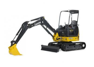 John Deere 27D Mini Excavator Rental Surrey