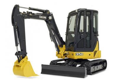John Deere 35D Mini Excavator Rental Burnaby