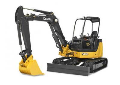 John Deere 50D Mini Excavator Rental Surrey